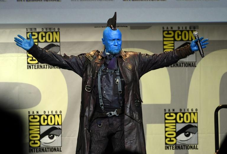 Actor Michael Rooker attends the Marvel Studios presentation as the blue-faced mercenary Yondu character from 'Guardians of the Galaxy' during Comic-Con International 2016, it San Diego