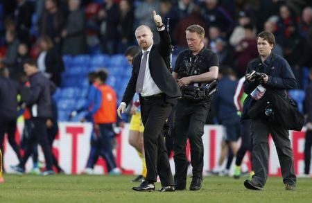 Britain Football Soccer - Crystal Palace v Burnley - Premier League - Selhurst Park - 29/4/17 Burnley manager Sean Dyche celebrates after the game Action Images via Reuters / John Sibley Livepic