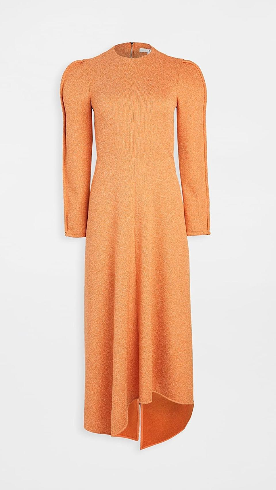 <p>Add a little color to your look in this <span>Tibi Origami Dress</span> ($695).</p>