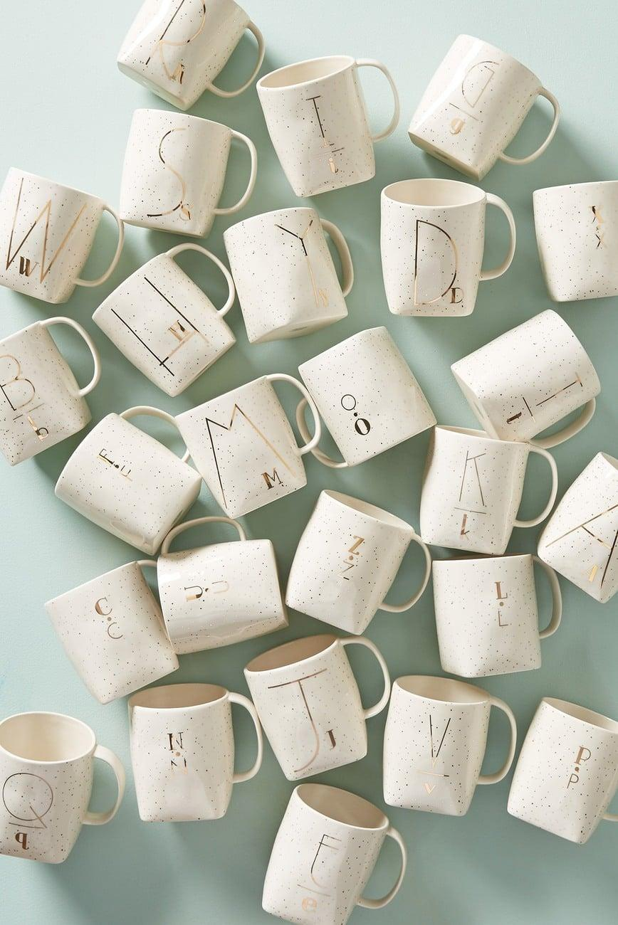<p>Personalized gifts are always fun, which is why this <span>Anthropologie Personality Monogram Mug</span> ($10) is a great idea.</p>