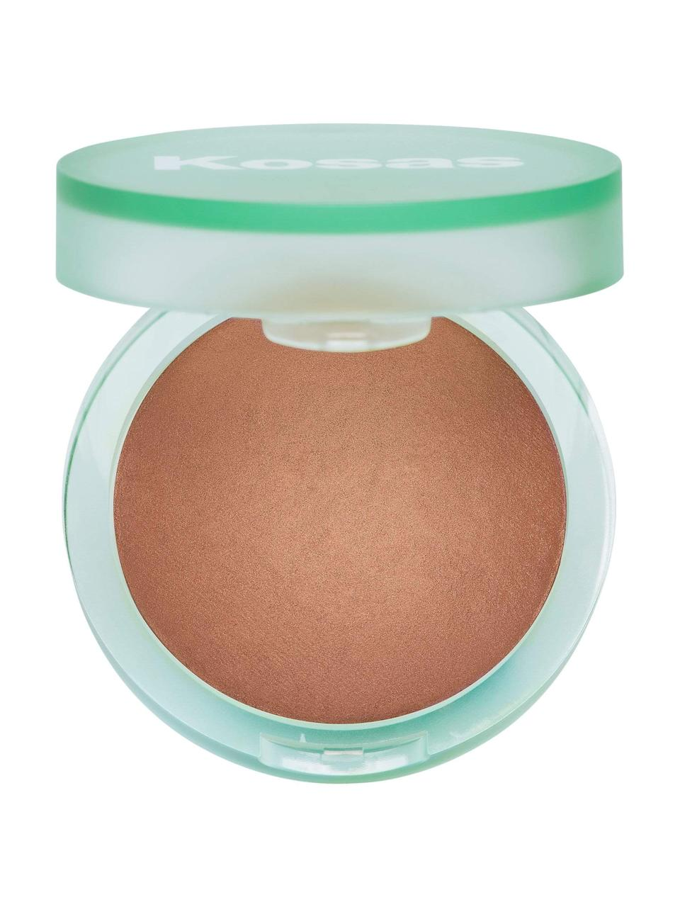 "<h3>The Sun Show</h3><br>Bring the sunny outdoors to your skin (minus UV damage) with this baked bronzer, encased in the prettiest seaglass-inspired compact that could easily be borrowed from Princess Ariel.<br><br><strong>Kosas</strong> The Sun Show Bronzer, $, available at <a href=""https://go.skimresources.com/?id=30283X879131&url=https%3A%2F%2Fkosas.com%2Fproducts%2Fthe-sun-show-bronzer-medium"" rel=""nofollow noopener"" target=""_blank"" data-ylk=""slk:Kosas"" class=""link rapid-noclick-resp"">Kosas</a>"
