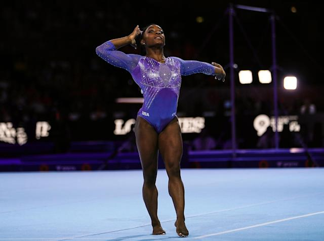 Even though it's her birthday, Simone Biles isn't taking a break urging USA Gymnastics to conduct an independent investigation into the Larry Nassar scandal. (Ulrik Pedersen/NurPhoto/Getty Images)
