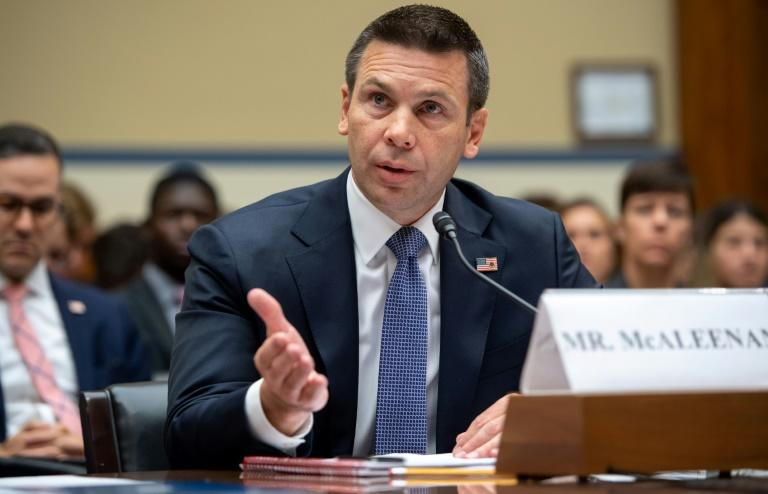 Acting Homeland Security Secretary Kevin McAleenan speaks to Congress on July 18, 2019 (AFP Photo/SAUL LOEB)