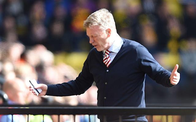 <span>David Moyes and his players look destined for the Championship</span> <span>Credit: PA </span>