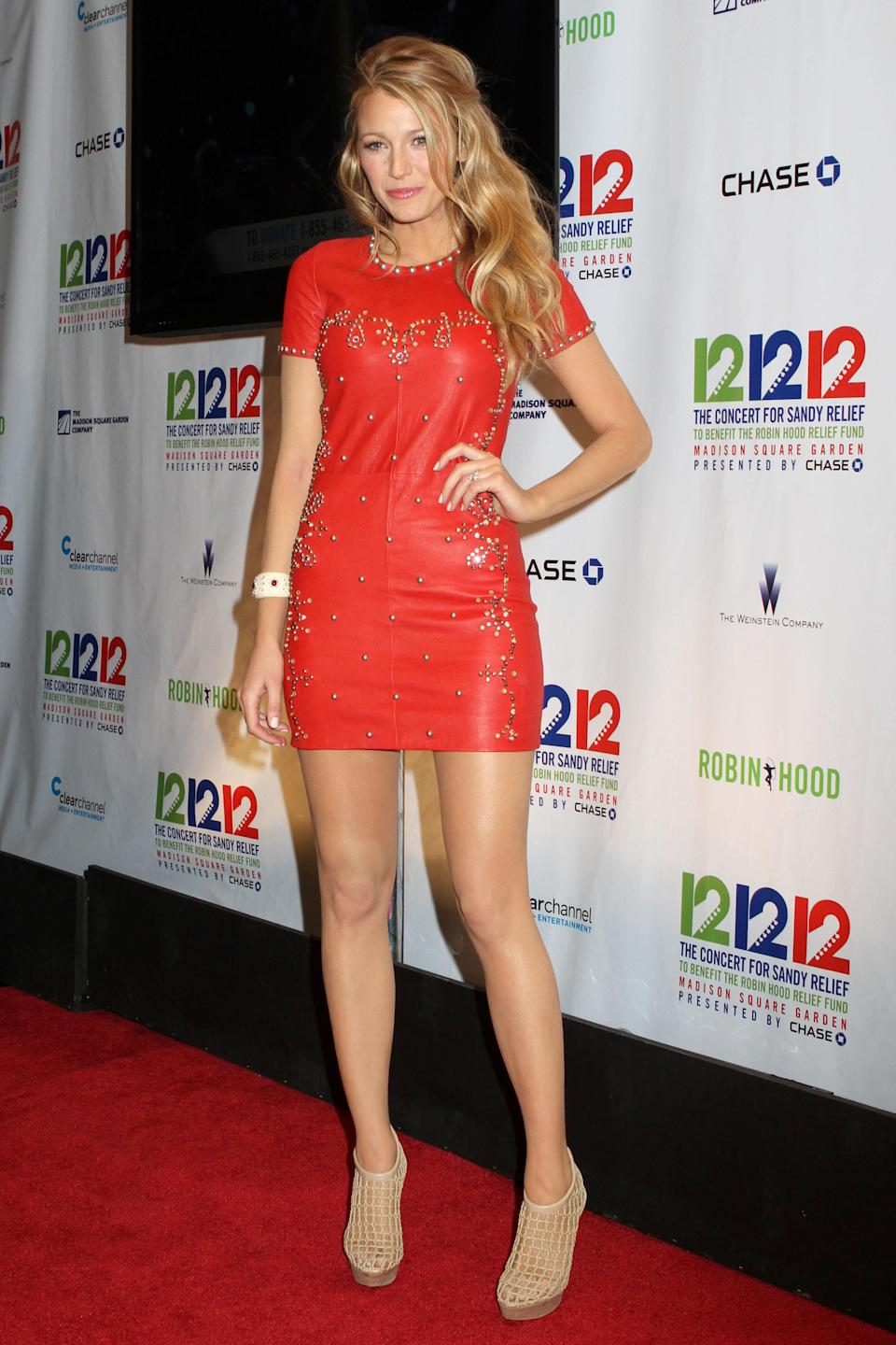 <p>Another red number, this short, studded dress goes perfectly with nude heels.<br><i>[Photo: Getty]</i> </p>