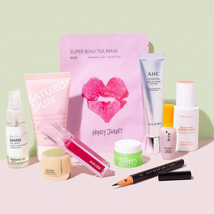 This specially curated kit has everything you need to attain dewy, healthy skin, a chic cat eye, perfectly glossy lips, and shiny hair. Some of our handpicked favorites include Peach & Lily's refining serum, UZ's award-winning liquid liner, and a gel peel from Saturday Skin. Quantities are limited, so take advantage of these offers before they're sold out! Allure Beauty Box member-exclusive price: $40 Non-member price: $60 Not a member? Sign up today. Already a member? Click here to order.
