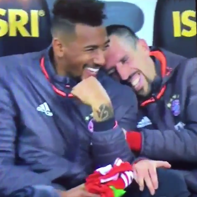 <span>Bayern players didn't struggle to contain themselves</span>