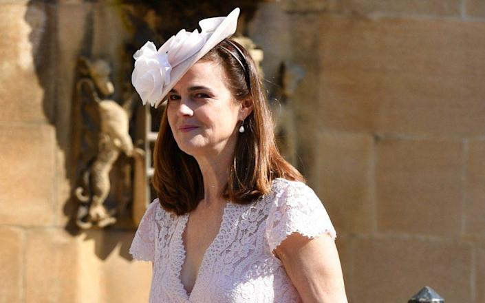 Samantha Cohen, pictured at the Duke and Duchess of Sussex's wedding - Mark Stewart