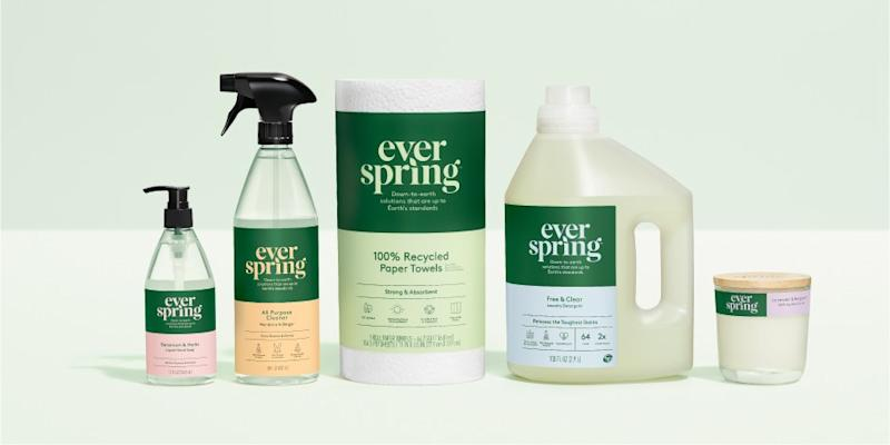 Everspring's various scent combinations are made with essential oils. Take your pick from citrus-and-basil, lavender-and-bergamot, and geranium-and-herbs, to name a few.