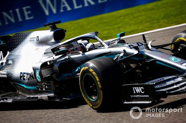 """Lewis Hamilton, Mercedes AMG F1 W10 <span class=""""copyright"""">Andy Hone / LAT Images</span>"""