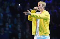 """<p>Hark back to the days of intense Bieber fever with JB's hit song about hanging out with his special someone at Christmas. </p><p><a class=""""link rapid-noclick-resp"""" href=""""https://www.amazon.com/Mistletoe/dp/B005XT3QI6/ref=sr_1_1?crid=20AJVYBXGNXQ1&tag=syn-yahoo-20&ascsubtag=%5Bartid%7C10055.g.2680%5Bsrc%7Cyahoo-us"""" rel=""""nofollow noopener"""" target=""""_blank"""" data-ylk=""""slk:AMAZON"""">AMAZON</a> <a class=""""link rapid-noclick-resp"""" href=""""https://go.redirectingat.com?id=74968X1596630&url=https%3A%2F%2Fmusic.apple.com%2Fus%2Falbum%2Funder-the-mistletoe%2F1440807599&sref=https%3A%2F%2Fwww.goodhousekeeping.com%2Fholidays%2Fchristmas-ideas%2Fg2680%2Fchristmas-songs%2F"""" rel=""""nofollow noopener"""" target=""""_blank"""" data-ylk=""""slk:ITUNES"""">ITUNES</a></p>"""