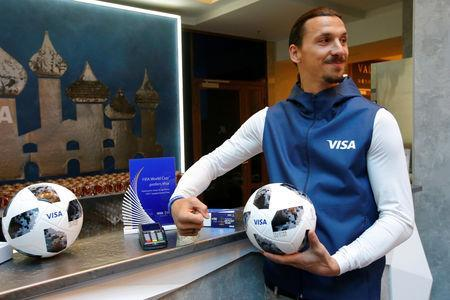 FILE PHOTO: Former Swedish striker Zlatan Ibrahimovic attends a meeting with media representatives on the upcoming 2018 FIFA World Cup in Moscow, Russia June 14, 2018. REUTERS/Sergei Karpukhin