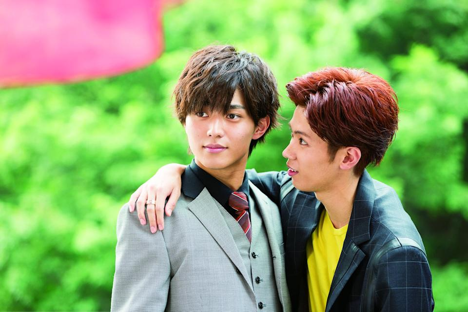 Ren Nagase (left) and Yuta Jinguji of J-pop group King & Prince in 2019 Japanese movie According To Our Butler.