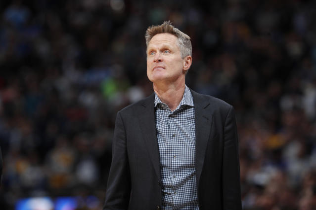 Steve Kerr delivered a candid message on gun violence on Wednesday. (AP)