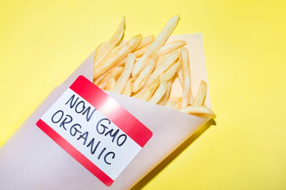 """<p>Like """"all natural,"""" the word """"organic"""" as a food label has become so over-used that it's hard to know if it ever means anything anymore. For <a href=""""https://www.livescience.com/52863-natural-organic-definition.html"""" rel=""""nofollow noopener"""" target=""""_blank"""" data-ylk=""""slk:a food to be labeled &quot;organic,&quot;"""" class=""""link rapid-noclick-resp"""">a food to be labeled """"organic,""""</a> it has to contain a minimum of 95 percent organic ingredients. For it to say """"made with organic ingredients,"""" it has to contain at least 70 percent organically produced ingredients. <br></p>"""