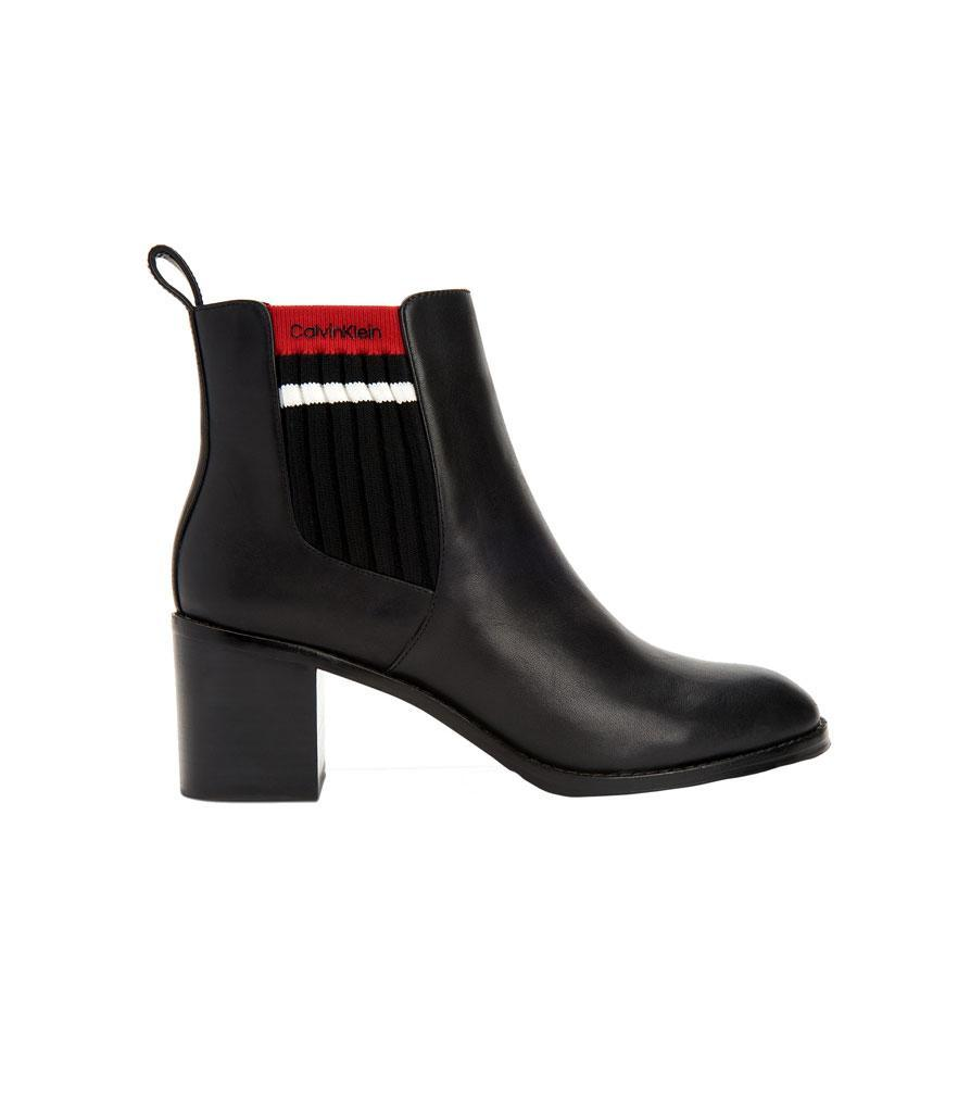 """<p>If you love Raf Simons's work for Calvin Klein, you'll love these boots, which feature his elevated design at a more accessible price point. <br><a href=""""https://fave.co/2zMgnZ0"""" rel=""""nofollow noopener"""" target=""""_blank"""" data-ylk=""""slk:Shop it:"""" class=""""link rapid-noclick-resp"""">Shop it:</a> Calvin Klein Women's Perron Booties, $90 (was $149), <a href=""""https://fave.co/2zMgnZ0"""" rel=""""nofollow noopener"""" target=""""_blank"""" data-ylk=""""slk:macys.com"""" class=""""link rapid-noclick-resp"""">macys.com</a> </p>"""