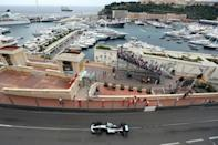Against the odds: Hamilton won on ruined tyres at Monaco in 2019 (AFP/VALERY HACHE)