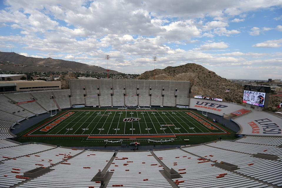 EL PASO, TX - SEPTEMBER 15: A general overview of the Sun Bowl before the start of the college football game between the UTEP Miners and the Arizona Wildcats on September 15, 2017 in El Paso, Texas. (Photo by Chris Coduto/Getty Images)