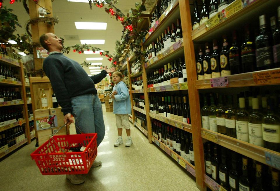 <p>If you're lucky enough to have a Trader Joe's wine store nearby, you'll definitely want to stock up. In addition to the award-winning Two Buck Chuck (Charles Shaw), you'll find plenty of quality vino for a discount.</p>