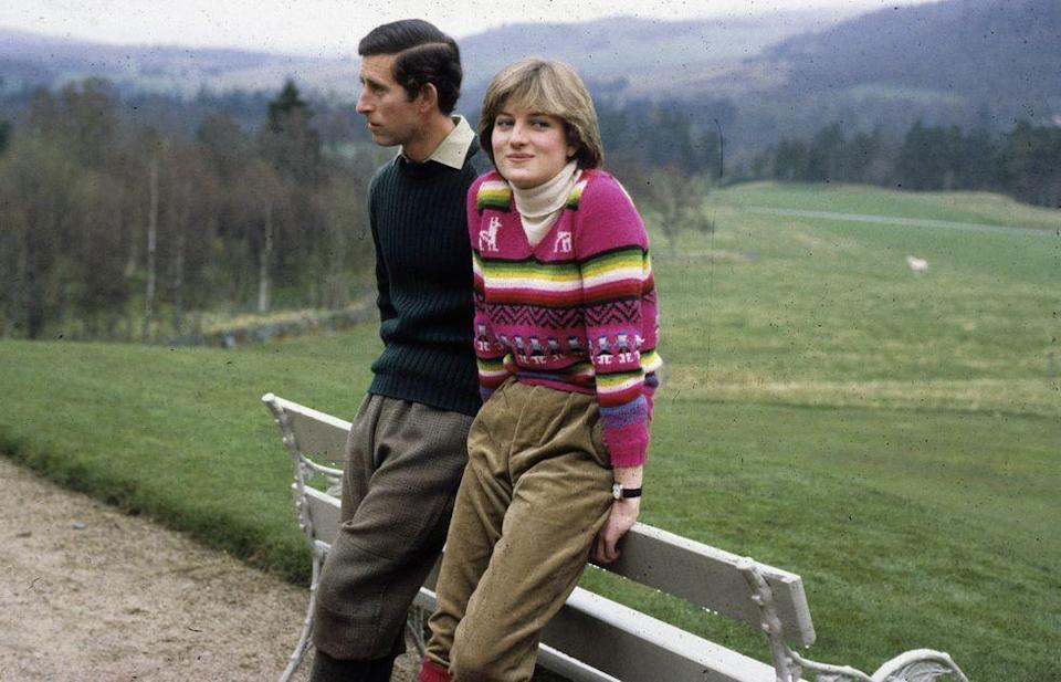 <p>Charles and Diana at the Balmoral Estate in Scotland.</p>
