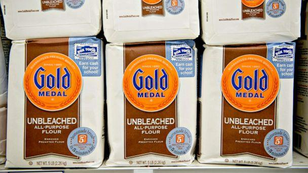 PHOTO: General Mills Inc. Gold Medal flour sits on display at a supermarket in Princeton, Illinois, Sept. 17, 2013. (Daniel Acker/Bloomberg via Getty Images, FILE)