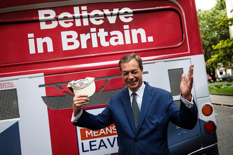 Nigel Farage said Ukip risks 'total and utter marginalisation' if it aligns itself with Tommy Robinson (Getty Images)