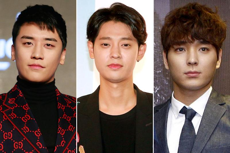 From left: Seungri, Jung Joon-young, and Choi Jong-hoon | VCG/VCG via Getty Images (3)