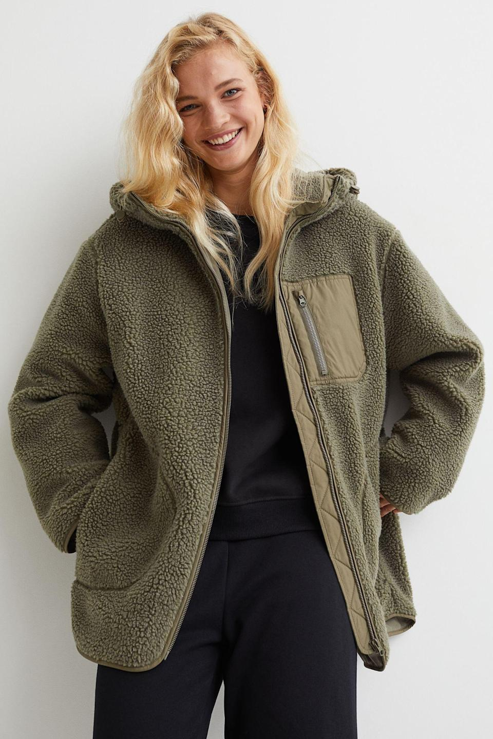 <p>This <span>Hooded Faux Shearling Jacket</span> ($40, originally $50) will make you look and feel effortless, thanks to its laidback vibe and the cool construction. You'll swear by it all fall and winter.</p>