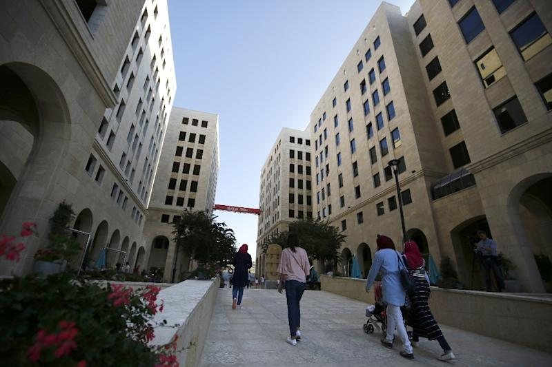 So far only some 3,000 people live in the pristine rows of beige tower blocks in the new city of Rawabi (AFP Photo/ABBAS MOMANI)