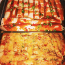 """<p>For a twist on a classic, try <a href=""""https://www.jamieoliver.com/recipes/vegetables-recipes/veggie-enchiladas/"""" rel=""""nofollow noopener"""" target=""""_blank"""" data-ylk=""""slk:Jamie Oliver's twist on a Mexican classic"""" class=""""link rapid-noclick-resp"""">Jamie Oliver's twist on a Mexican classic</a> filled with grilled veg, black beans and fresh coriander. [Photo: Instagram/reciesbears] </p>"""