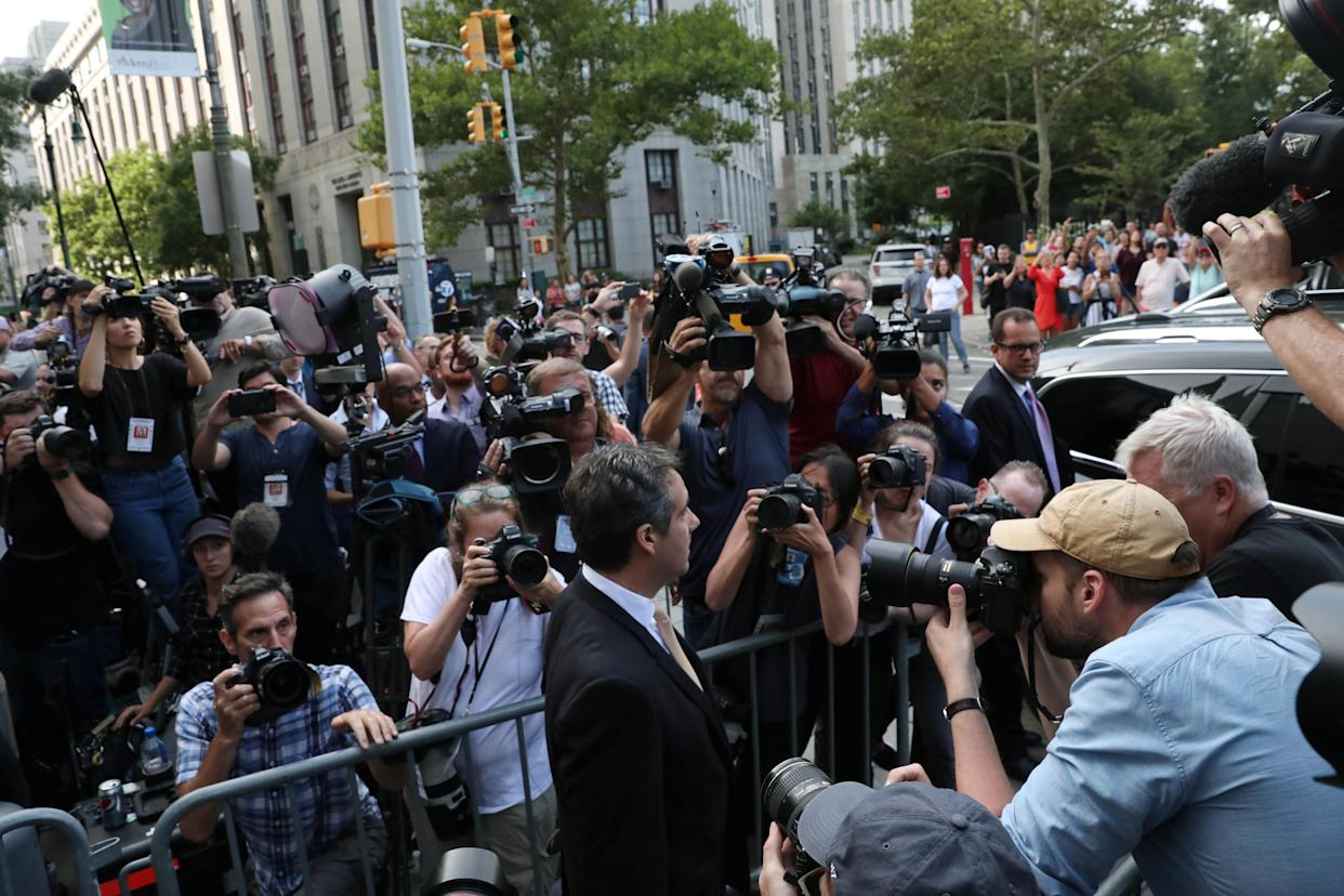 Michael Cohen leaves the courthouse in New York City, Aug. 21, 2018. (Photo: Mike Segar/Reuters)