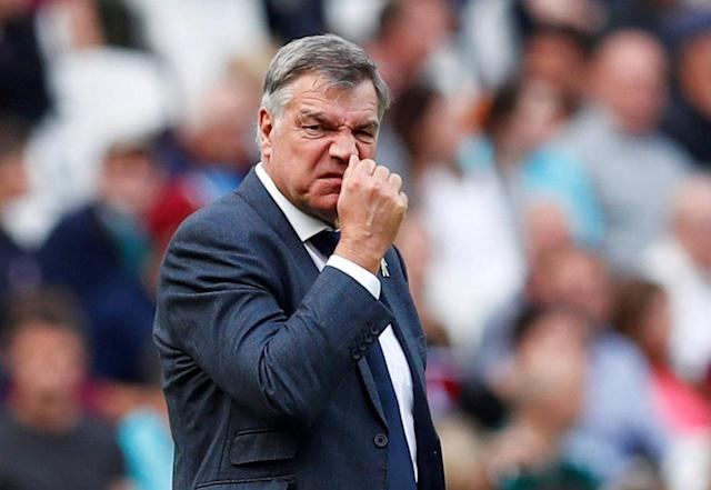 "FILE PHOTO: Soccer Football - Premier League - West Ham United vs Everton - London Stadium, London, Britain - May 13, 2018 Everton manager Sam Allardyce reacts REUTERS/Eddie Keogh/File Photo EDITORIAL USE ONLY. No use with unauthorized audio, video, data, fixture lists, club/league logos or ""live"" services. Online in-match use limited to 75 images, no video emulation. No use in betting, games or single club/league/player publications. Please contact your account representative for further details."
