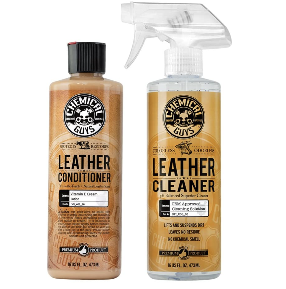 Chemical Guys - Leather Care Kit: Cleaner and Conditioner- Amazon, $26 (originally $43)