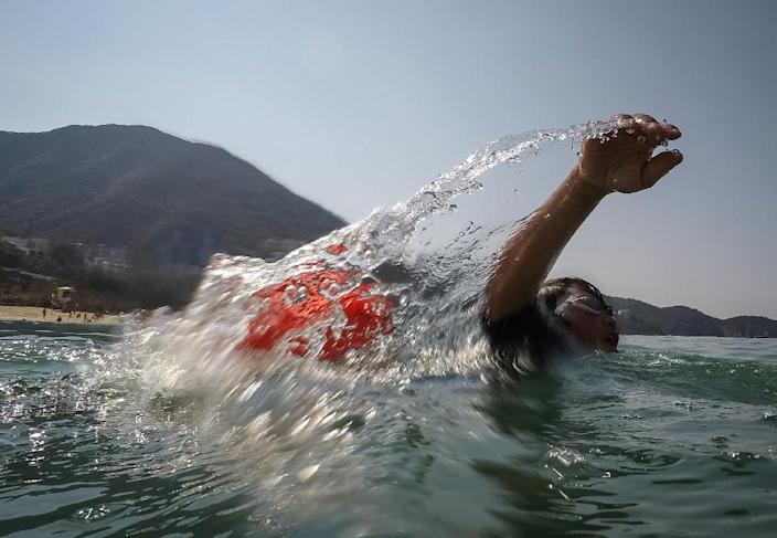 Some in the programme have gone on to be open-water swimmers, taking advantage of Hong Kong's many beaches (AFP Photo/Vivek PRAKASH)