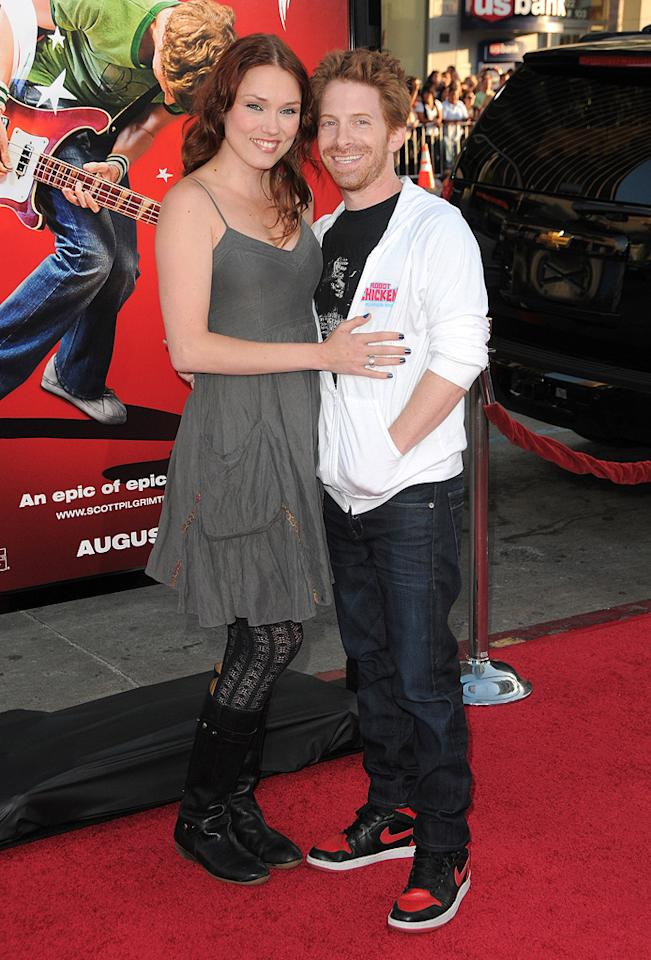 "Claire Grant and <a href=""http://movies.yahoo.com/movie/contributor/1800018683"">Seth Green</a> at the Los Angeles premiere of <a href=""http://movies.yahoo.com/movie/1810070753/info"">Scott Pilgrim vs. the World</a> - 07/27/2010"