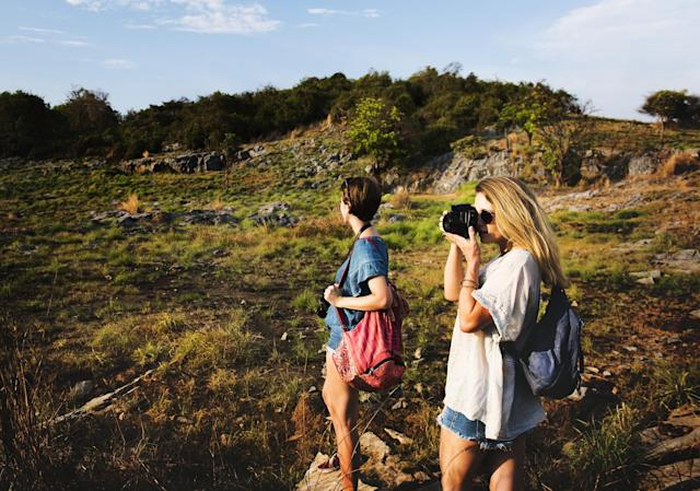 <p>Take time off from your devices and go for a hike with family and friends. </p>