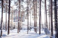 """<p>At the Treehotel in Harads, Sweden, you can choose from six different contemporary tree rooms located right in the middle of nature. The Mirrorcube includes its own rooftop terrace.</p><p><a class=""""link rapid-noclick-resp"""" href=""""https://go.redirectingat.com?id=74968X1596630&url=https%3A%2F%2Fwww.tripadvisor.com%2FHotel_Review-g6200614-d1872348-Reviews-Treehotel-Harads_Norrbotten_County.html&sref=https%3A%2F%2Fwww.housebeautiful.com%2Fdesign-inspiration%2Fhouse-tours%2Fg3301%2Famazing-tree-house-homes%2F"""" rel=""""nofollow noopener"""" target=""""_blank"""" data-ylk=""""slk:BOOK NOW"""">BOOK NOW</a> <strong><em>The Mirrorcube</em></strong></p>"""