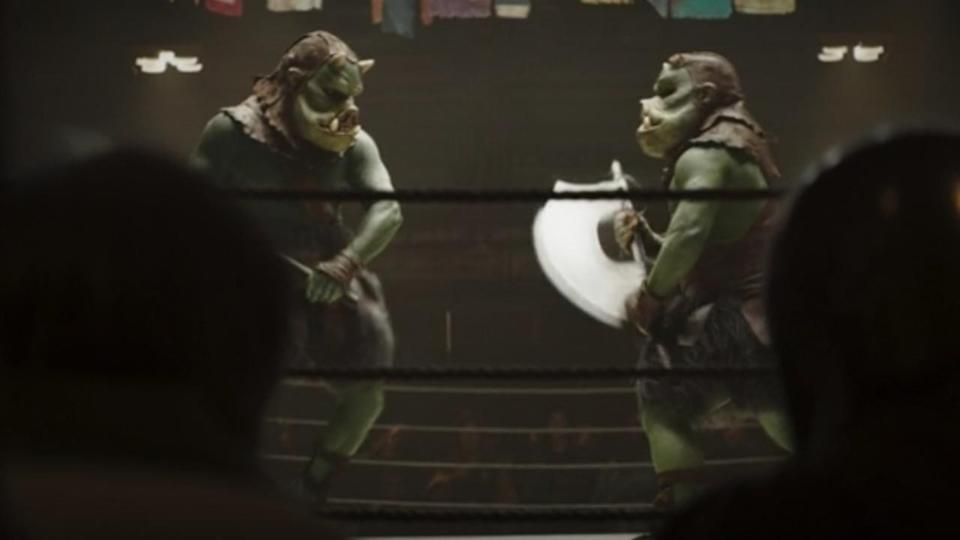 <p> <strong>Episode 1</strong> </p> <p> Speaking of the fighting pits, the two duking it out in the ring were both Gamorreans. The pig-like creatures are dotted around Star Wars lore but first appeared in Return of the Jedi as mercenaries for Jabba the Hutt. </p>