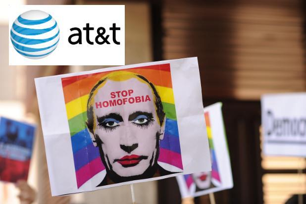 AT&T Protests Russia's Anti-Gay Law Ahead of Sochi Olympics
