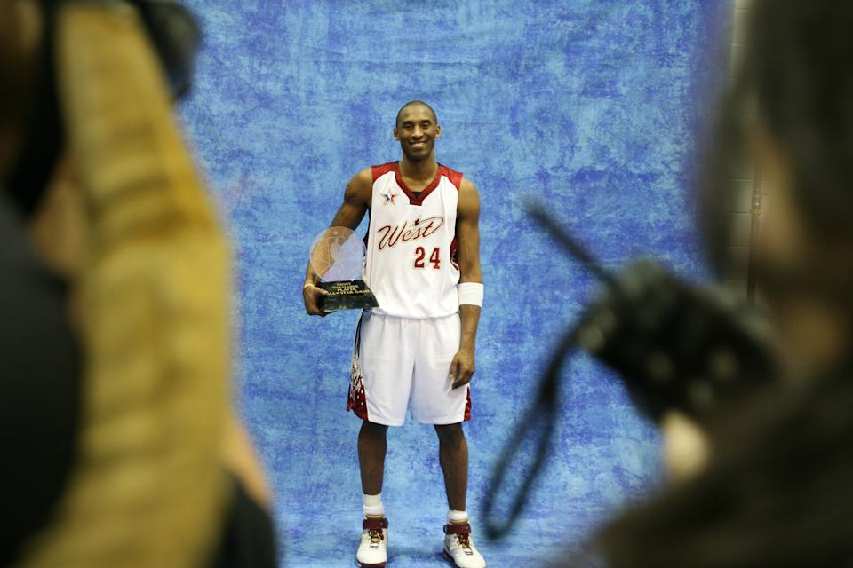 Kobe Bryant won the second of his four All-Star Game MVP awards in 2007. The award was posthumously named in his honor. (David Sherman/NBAE via Getty Images).