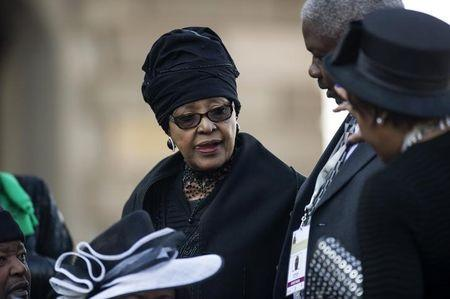 Winnie Mandela attends the inauguration ceremony of South African President Jacob Zuma at the Union Buildings in Pretoria