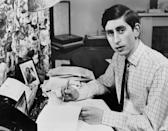 Prince Charles at his desk at Cambridge, on 19 June, 1969. Even the future king had essays to submit. (AFP via Getty Images)