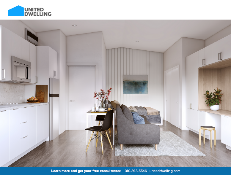 United Dwelling modular unit design rendering, provided by United Dwelling.