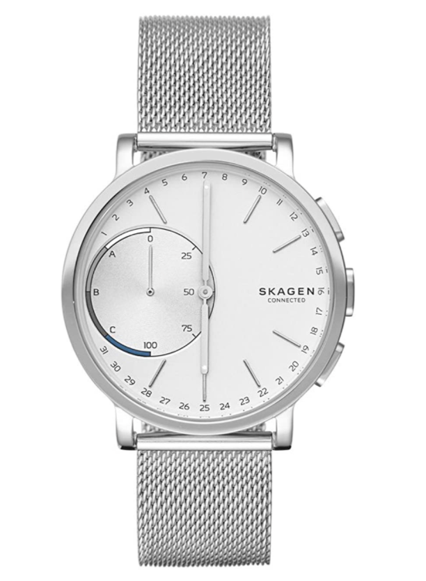 Skagen Hagen Connected Steel-Mesh Hybrid Smartwatch (Photo via Amazon)