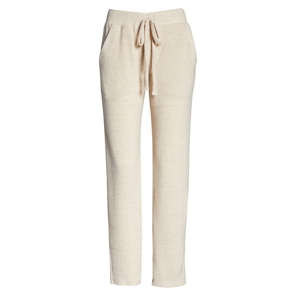 "<p>Upgrade your sweats with this pair of ankle-grazing lounge pants. They're soft and lightweight so you can wear them at home without overheating, and they have an elastic waistband for added comfort. Plus, they have spacious front pockets, which is always a nice bonus.</p> <p><strong>To buy:</strong> $35 (was $46); <a href=""https://click.linksynergy.com/deeplink?id=93xLBvPhAeE&mid=1237&murl=http%3A%2F%2Fshop.nordstrom.com%2Fs%2Fproject-social-t-lounge-pants%2F5542348%2Ffull&u1=RS%2CNordstromQuietlyMarkedDownPricesonSoManyComfyEssentials%2Cjmastrop%2CCLO%2CIMA%2C697481%2C202003%2CI"" target=""_blank"">nordstrom.com</a>.</p>"