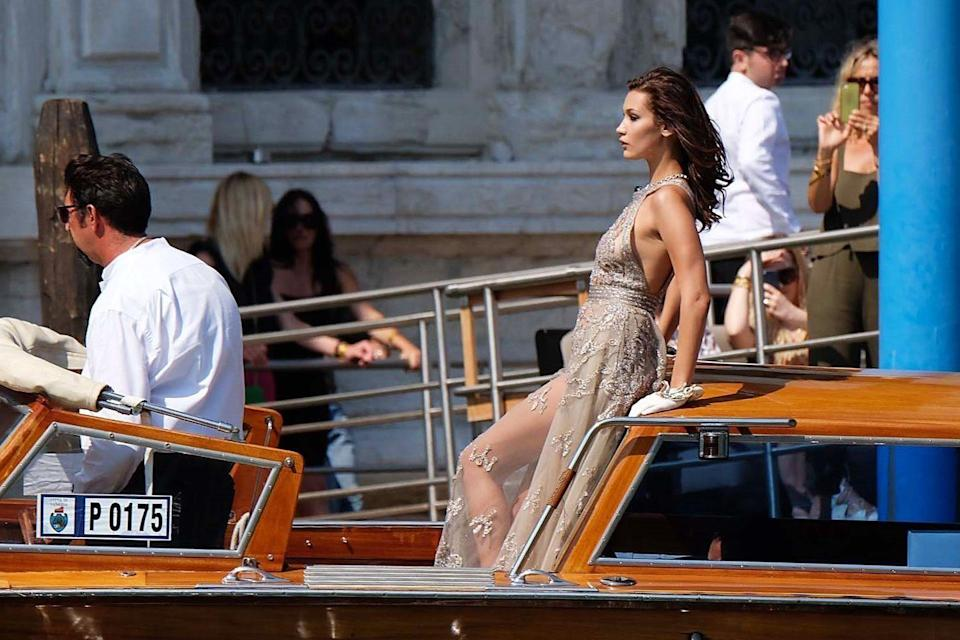 <p>Another day, another floor-length gown on the water.</p>