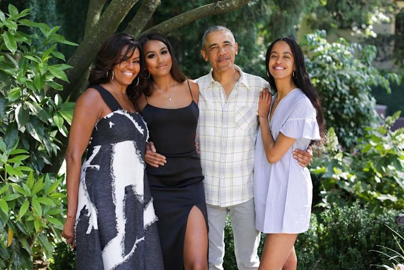 Michelle, Sasha, Barack and Malia Obama (Michelle Obama/Instagram)
