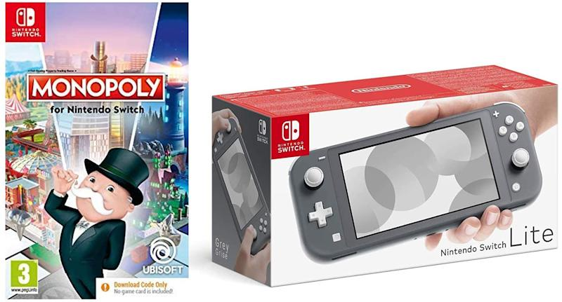 Nintendo Switch Lite - Grey + Monopoly