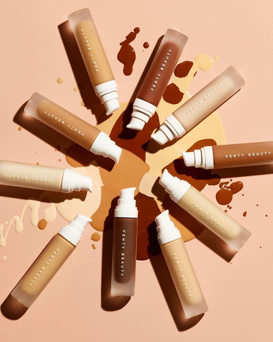 """This is oneof a few beauty brands the teens truly swear by. The company is known for carrying a wide variety of shades well-suited for various skin tones.<br /><br />""""It's one of those brands that isn't just a celebrity makeup brand with mediocre products, like everything is so good. I personally love the gloss bomb lipstick."""" —tjrid06<br /><br /><strong><a href=""""https://go.skimresources.com?id=38395X987171&xs=1&xcust=HPTeenAprprovedProducts-60a5636fe4b03e1dd392005a-&url=https%3A%2F%2Fwww.sephora.com%2Fbrand%2Ffenty-beauty-rihanna"""" target=""""_blank"""" rel=""""noopener noreferrer"""">Check out all the Fenty Beauty by Rihanna products Sephora offers.</a></strong>"""