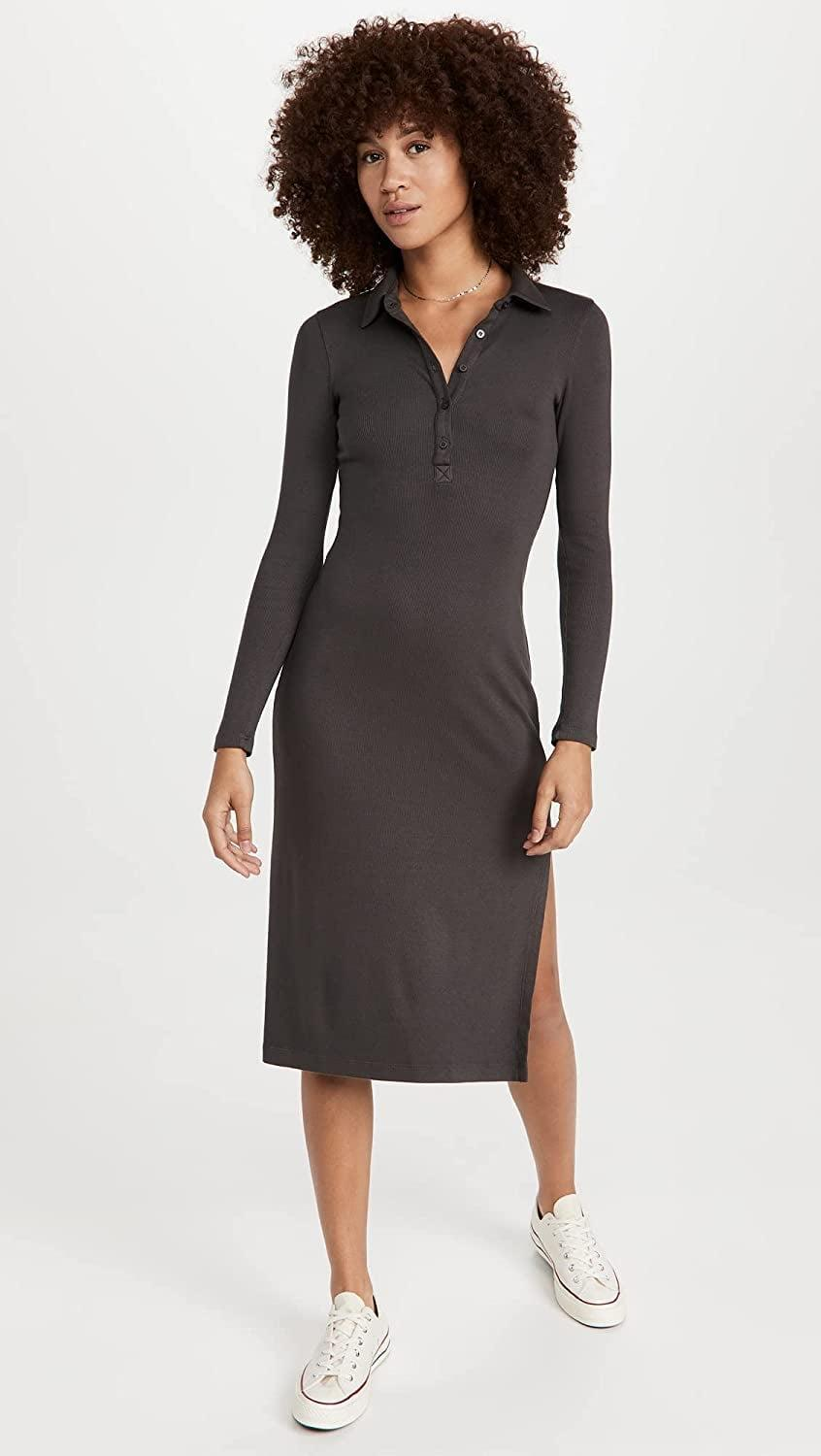 <p>This <span>Stateside Polo Midi Dress</span> ($144) has a sporty and easygoing vibe to it that dials up the appeal. We're drawn to the slit, which brings a sexy touch to it.</p>